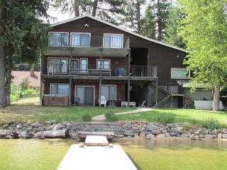 Large Lakefront Home with Private Dock, Sandy Beach and Hot Tub. - McCall vacation rentals