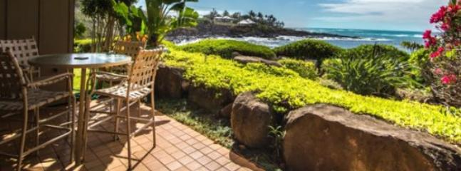 lanai - Free Car* with Whalers Cove 212 - Beautiful oceanfront 2B/2B condo sleeps 6! Heated Pool. - Poipu - rentals