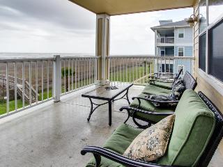 Beachside, dog-friendly condo with views; shared pool & hot tub! - Galveston vacation rentals