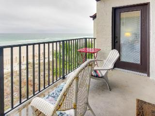 Bright, oceanfront retreat w/ shared swimming pool - snowbirds welcome! - Panama City Beach vacation rentals