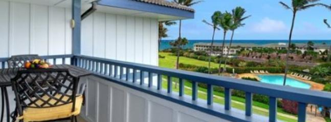 lanai - Free Car* with Poipu Sands 222 --OCEAN VIEW, renovated 2bd/2bath - Poipu - rentals