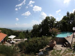 House with private swimming pool and panoramic lake view - Tuoro sul Trasimeno vacation rentals