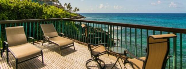 Poipu Shores 101B You cannot get closer to the ocean. 1 bed, large lanai, AC and a heated Pool! Free car with stays 7 nts or more* - Image 1 - Poipu - rentals