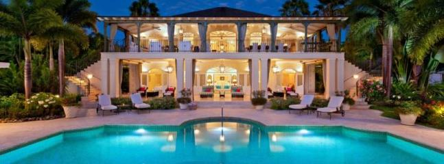 Magnificent 5 bedroom home with views of the Caribbean Sea, the pool and gardens. - Gibbs Bay vacation rentals