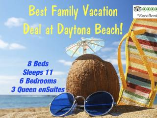 VRBO 6BR FAMILY BEACH VACATION DEAL off A1A OCEANSIDE at Daytona! KIDS Welcome! - Daytona Beach vacation rentals