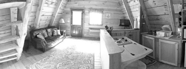 living area - Red River Outdoors - Amy's A-Frame - Slade - rentals