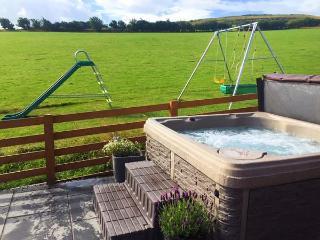 PEN Y GAER, detached cottage, hot tub, on livestock farm, woodburner, enclosed garden, superb views, near Llannefydd, Ref 19983 - Llannefydd vacation rentals