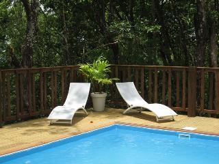 villa 2/4 p foret vue mer,clim, piscine 5mn plage - Bouillante vacation rentals