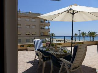 Amazing see front flat terrace 2-2 - Calafell vacation rentals