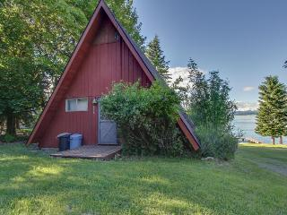 Charming lakefront A-frame with shared dock/ beach/outdoor firepit. - Sagle vacation rentals