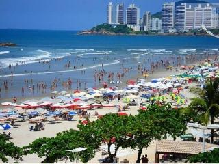 Apartamento pé na areia frente a Praia - Guarujá - Guaruja vacation rentals