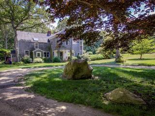 Stately home with shared swimming pool, waterfall, hot tub, and treehouse! - West Tisbury vacation rentals