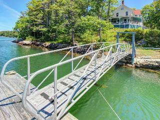 Historic, waterfront manse with gorgeous views & private dock! - West Bath vacation rentals