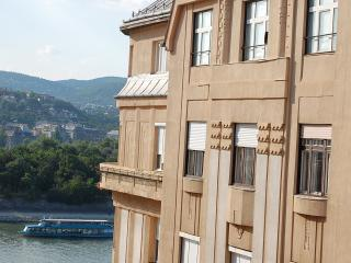 Danube river view 2 bedroom topfloor apartment +AC - Budapest vacation rentals