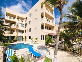 Fabulous beachfront condo with pool and onsite restaurant - Akumal vacation rentals