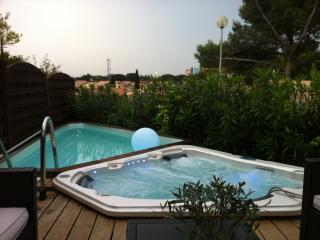 Villa au calme avec SPA, piscine, jardins, climatisation, WIFI, plage à 600m. - Gruissan vacation rentals