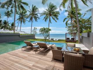 Stunning 3 Bedroom Beach front villa in Leam Noi, Bang Por - Koh Samui vacation rentals