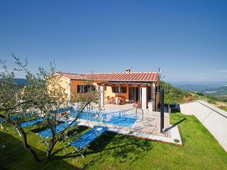 Beautiful 4 bedroom villa with private pool and amazing view over the Mirna valley - Vizinada vacation rentals