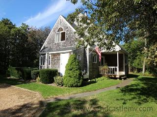SWEET, CLEAN AND BRIGHT CAPE WITH LOVELY DECK OVERLOOKING GRASSY YARD - Edgartown vacation rentals