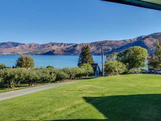 Lakefront townhome with fireplace, private hot tub, and shared pool! - Manson vacation rentals
