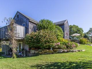 SWETL - Makonikey Vacation Retreat, Gorgoeus Waterviews,  Some A/C, 6 minute, walk, 1/3 mi  to Private Association Beach, Designer decor throughout - West Tisbury vacation rentals