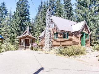 Dog-friendly, family-friendly log cabin w/fairytale interior. - Government Camp vacation rentals