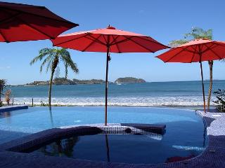Amazing Beach Front Villa 5 bd 5 ba with Infinity Pool-step onto the sand - Playa Potrero vacation rentals