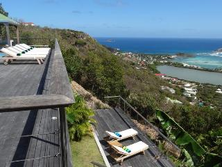 Casa Azul at Vitet, St. Barth - Panoramic View of Ocean and Lagoon, Fully Air-Conditioned - Vitet vacation rentals