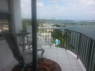 Bay and ocean view from waterfront high rise - North Miami vacation rentals