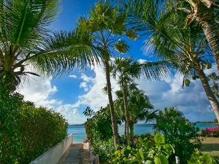 Short walk form Mahoe Beach, this 2- level villa is connected via a covered garden walkway to the guest house. VG BEL - Mahoe Bay vacation rentals