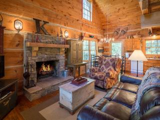 4 SECLUDED ACRES - Hand Hewn Log Cabin - New River - Boone vacation rentals