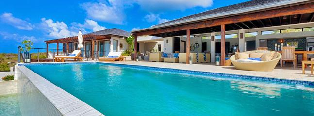 AVAILABLE CHRISTMAS & NEW YEARS: Anguilla Villa 112 Sitting On The South Shore, Anguilla Villa 112 Commands Stunning Views Of The Secluded Cove Beach And The Mountains Of St. Martin. - Little Harbour vacation rentals
