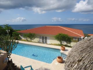 Caribbean Blue Sea Villa on CasAbao - Willibrordus vacation rentals