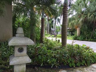 Exotic garden at Miami landmark estate. Art Palace - South Miami vacation rentals