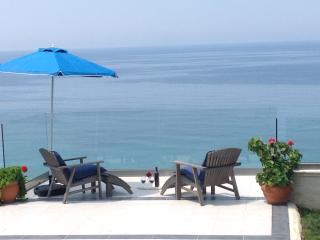SEAHORSE BAY BEACH VILLA -   SEAFRONT,  WITH  POOL & STEPS DOWN TO THE BEACH - Corfu vacation rentals