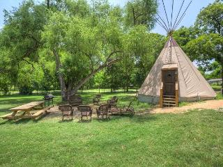 Unbelievable Tipis on Geronimo Creek! Heated/AC, Insulated-Sleeps up to 6 - Seguin vacation rentals