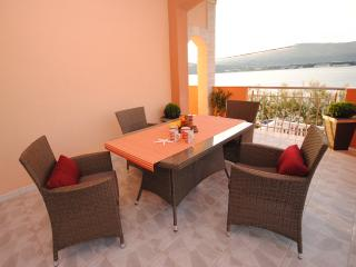 Two terrace two bedroom apartment at seafront - Arbanija vacation rentals
