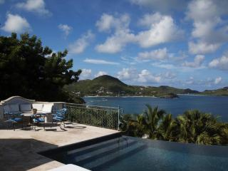 Luxury 6 bedroom St. Barts villa. Broad sunset views of Lorient and St. Jean! - Pointe Milou vacation rentals