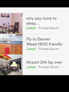 Denver International Airport lay over 420 & smoke - Denver vacation rentals