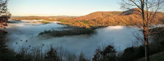 Morning mist over the river November 2015. - HIBERNATION RIDGE - Hayesville - rentals