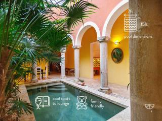 Family-friendly bohemian luxury in urban Mérida. - Merida vacation rentals
