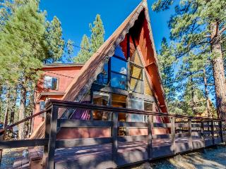 Rustic A-frame cabin w/ private hot tub - close to ski and beach access! - Big Bear Lake vacation rentals