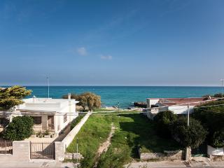 House overlooking the sea on the beach in San Foca - San Foca vacation rentals