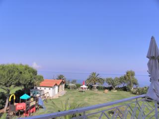 Beach front Apartment Kalo Nero Beach Kyparissia breakfast garden playing ground - Kalo Nero vacation rentals