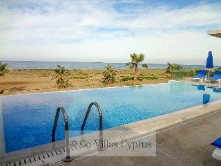 Beachfront 4BR modern luxury villa, games,gym,wifi - Argaka vacation rentals