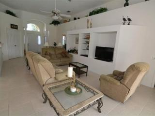 4 Bedroom 3 Bath South Facing Pool Home Overlooking Lake. 355HD - ChampionsGate vacation rentals