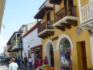 Old City Calle Moneda one bedroom w balcony -AC/hot H20/broadband WiFi - Cartagena vacation rentals