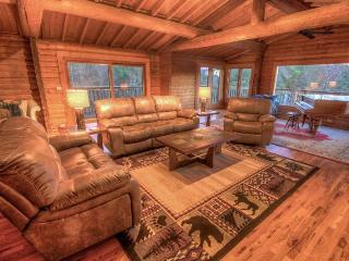 5BR Mountain Lodge, Newly Renovated, Long Range Views, 2 Stone Fireplaces, Grantie, Stainless, Full Range/Oven, Wine Fridge, Exposed Timbers,Foosball Table, Near Banner Elk, NC - Elk Park vacation rentals