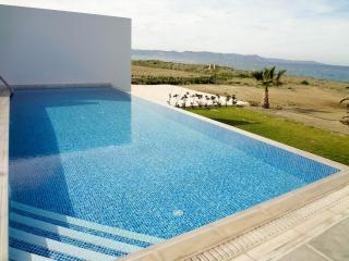 Beachfront modern villa, Sleeps 10, private pool - Argaka vacation rentals