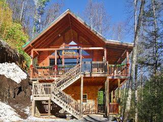 *Secluded Cabin- 5 acres! Game Room-WiFi-Hot Tub!* - Townsend vacation rentals